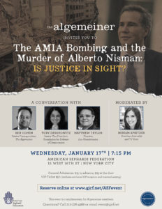 The AMIA bombing and the Murder of Alberto Nisman: is Justice in Sight?
